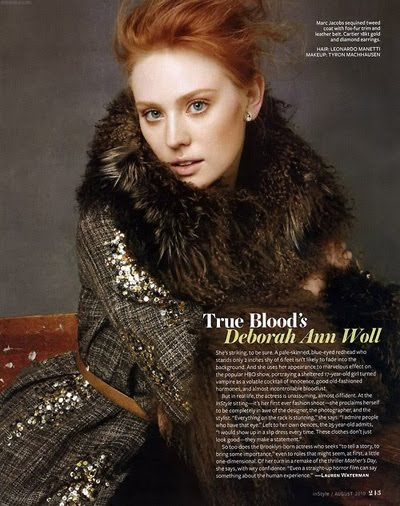 Marc Jacobs and True Blood's Deborah Ann Woll for InStyle