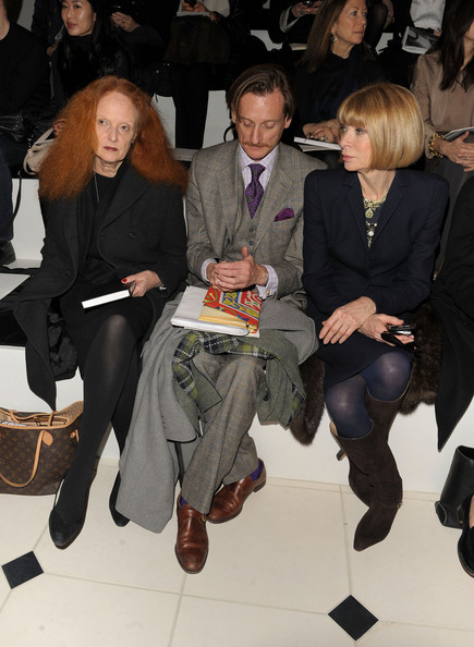 Anna Wintour, Grace Coddington, and Hamish Bowles