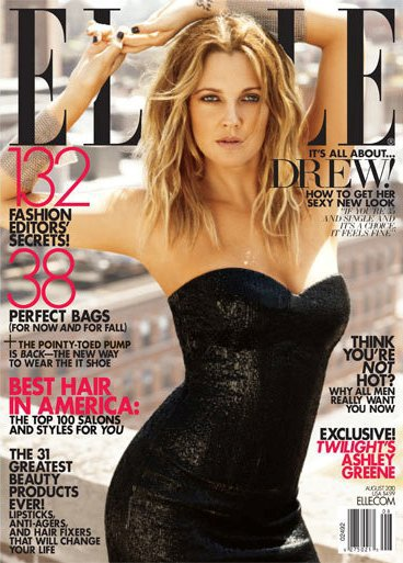 Drew Barrymore Elle 2010 Cover