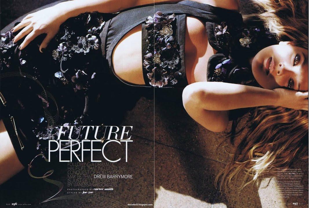 Drew Barrymore Elle 2010