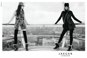 Abbey Lee Kershaw and Imogen Morris-Clarke for Jaeger