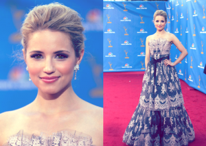 Dianna Agron Emmys Red Carpet 2010