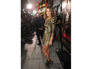 Jessica Alba Machete Premiere Balmain Dress