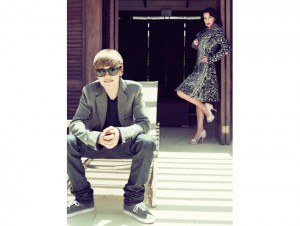 Kim Kardashian an Justin Bieber for Elle September 2010