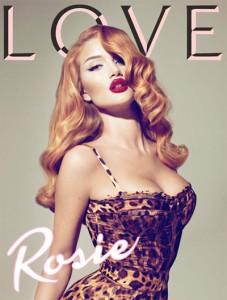 Rosie Huntington-Whiteley Love Cover