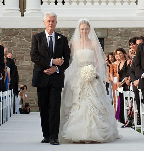 Chelsea Clinton and Bill Clinton Wedding Photo