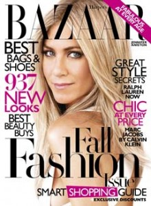 Jennifer Aniston in Harpers Bazaar September 2010 as Barbra Streisand