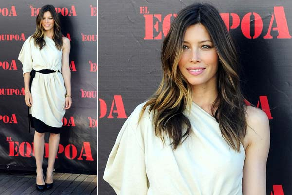 Jessica Biel at The A-Team photocall in Spain