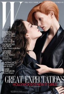 Kat Dennings and Jessica Chastain for W September 2010