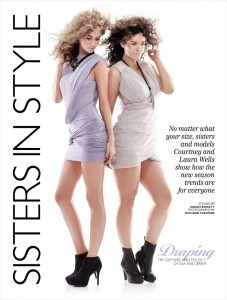 Laura Wells and Courtney Wells for Australian Cosmopolitan