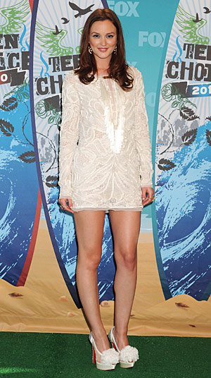 Leighton Meester at the Teen Choice Awards 2010