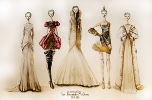 Alexander Lee McQueen Sketches