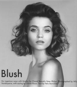 Blush Abbey Lee Kershaw Gentlewoman