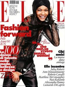 Chanel Iman for Elle Italia