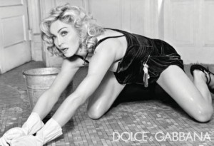 Dolce and Gabanna Madonna Maid With Photoshop