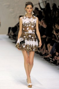 Dolce and Gabbana MFW Runway Alejandra Alonso