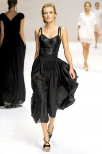 Dolce and Gabbana MFW Runway Edita Vilkeviciute