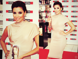 Eva Longoria in Victoria Beckham for Eva Fragrance
