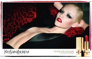 Ginta Lapina by Terry Richardson for YSL Cosmetics Rouge Pur Couture
