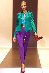 Gucci Runway MFW Anja Rubik