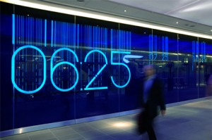 Heathrow Electroluminescent Art Wall at Terminal 5