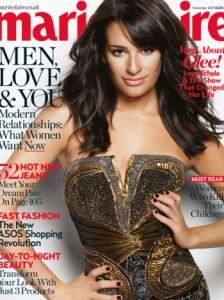 Lea Michele Glee Rachel Berry Topless Marie Claire
