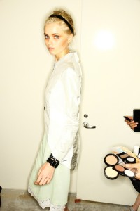 Rag and Bone Abbey Lee Kershaw Platinum Hair NYFW