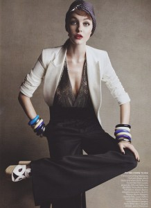 Society Slouch Trentini Dunn Iman Demarchelier