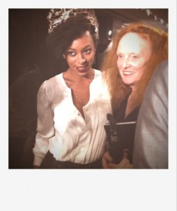 Solange and Grace Coddington New York Fashion Week Celebrity Favourites