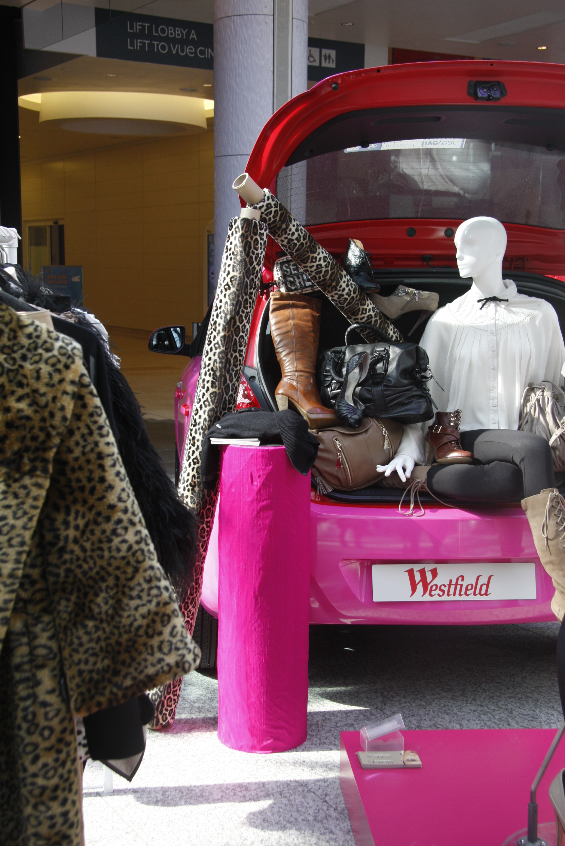 Westfield Shopping Car Boot Fashion