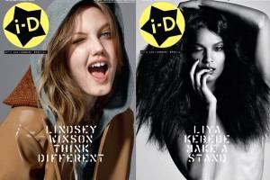 iD Magazine 30th Anniversary Lindsey Wixson and Liya Kebede