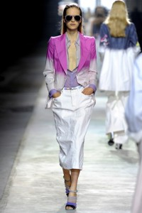 Dries Van Noten PFW Runway Mirte Maas