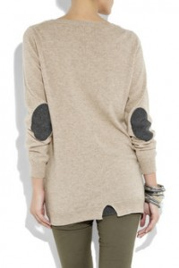 Chinti and Parker Elbow Patch Cashmere Sweater