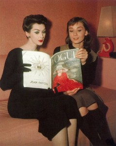 Audrey Hepburn and Dovima