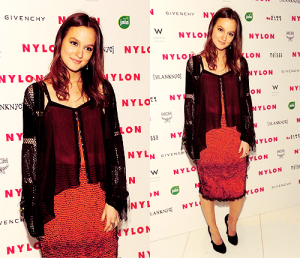 Leighton Meester Nylon Party