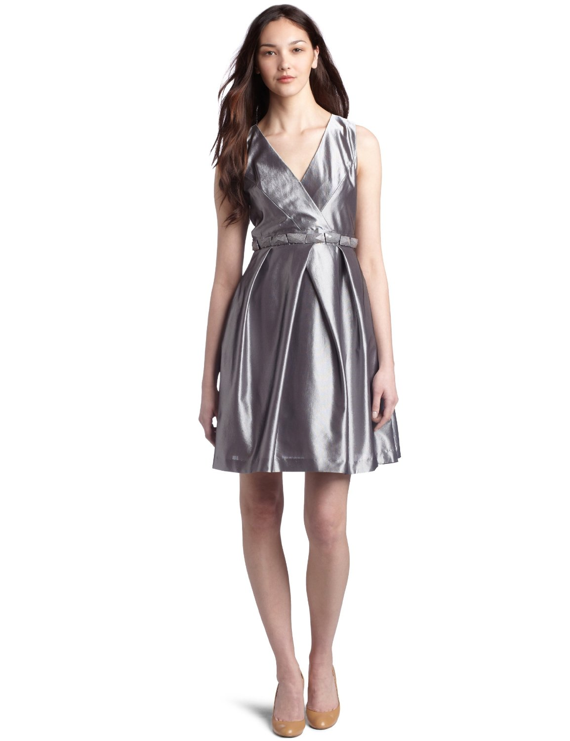 8ba17ef22a2 Want to channel Blair Waldorf at prom  This metallic prom dress ...