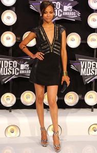 Zoe Saldana VMAs 2011