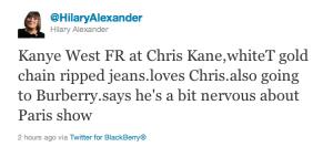 Hilary Alexander Twitter