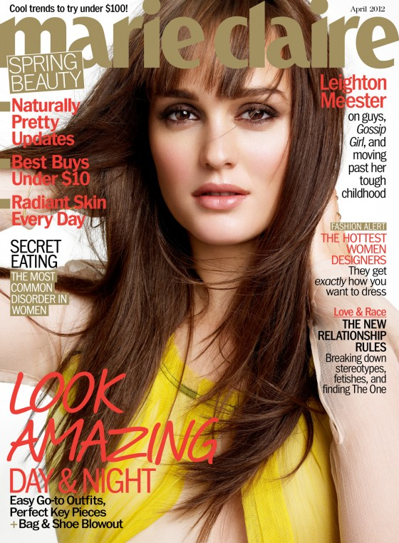 leighton meester marie claire cover
