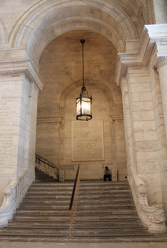 Astor Hall at New York Public Library