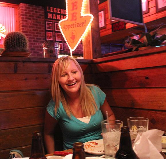 P Sawyer at her Bachelorette Dinner