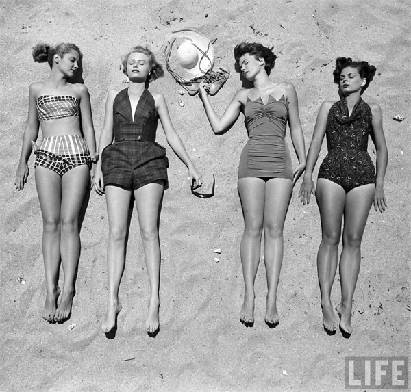 vintage beach beauty