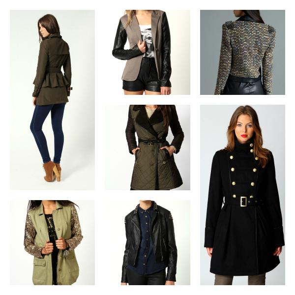 Boohoo coats