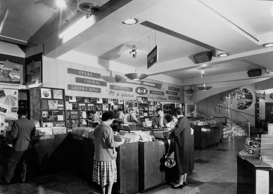 HMV Oxford Street 1950s