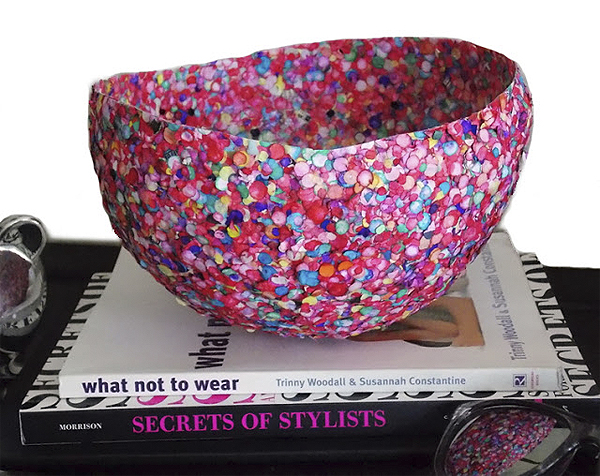 confetti vase diy