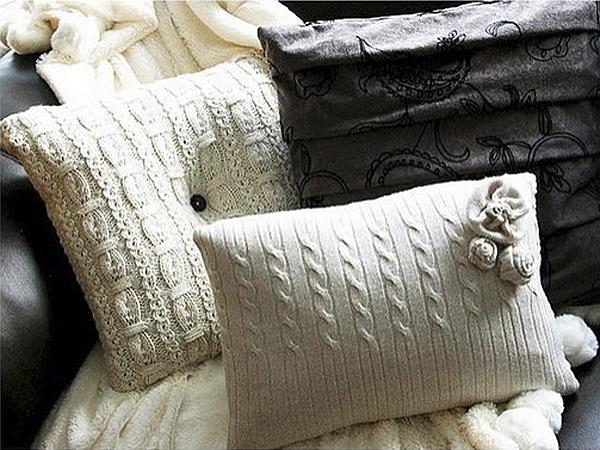 sweater pillows diy