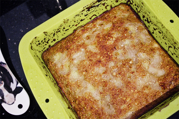 banana protein squares