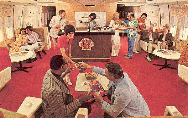Continental Airlines Vintage Coach Lounge 1