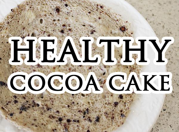 healthy cocoa cake