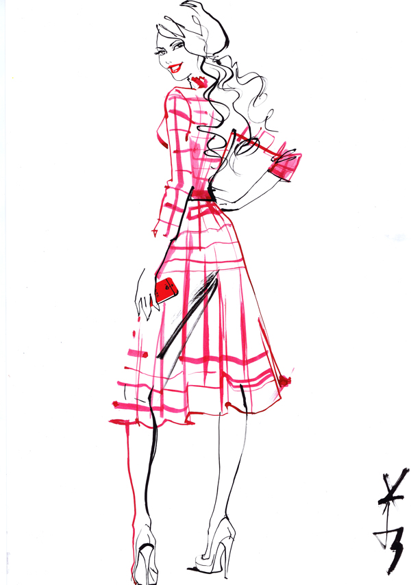 lela london fashion illustration